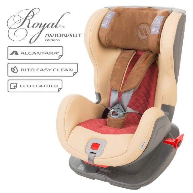 Столче за кола Avionaut Glider Royal L.04, IsoFix, 9-25 кг, Бежово/Червено