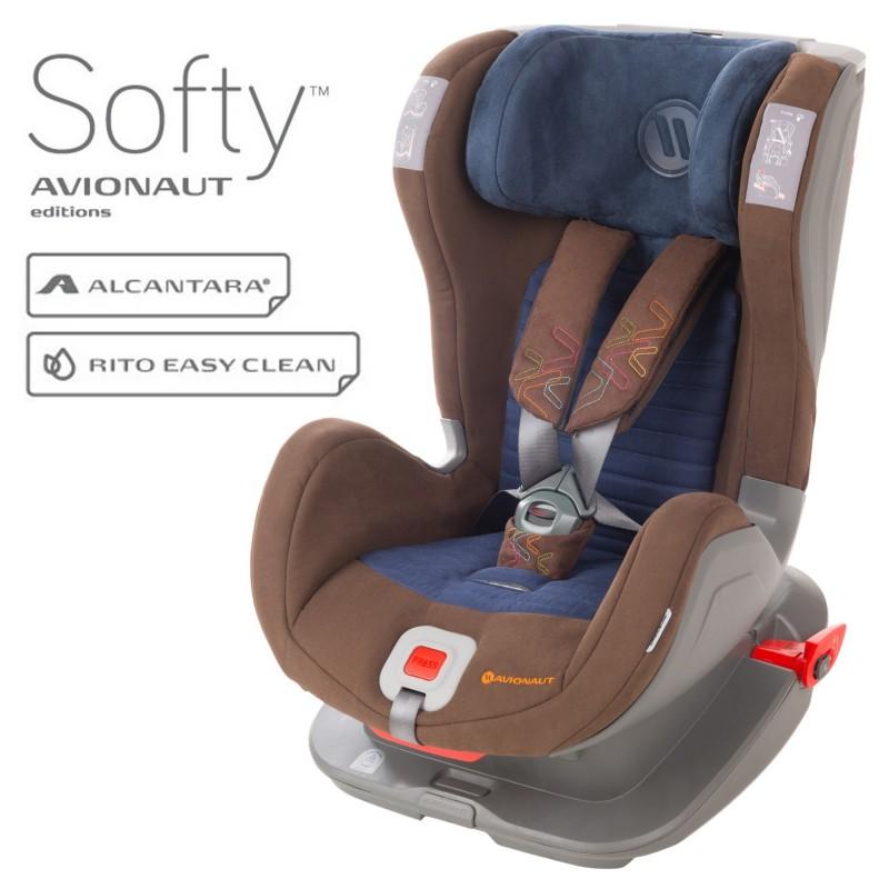 Avionaut Glider Softy столче за кола 9-25 кг F.02 кафяво/синьо