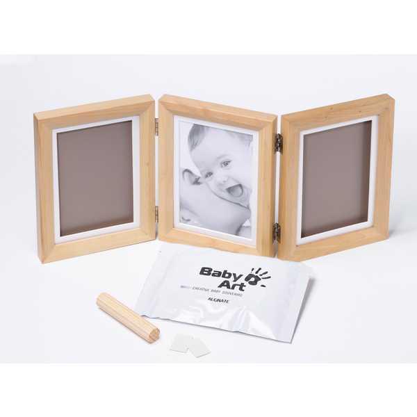 Baby Art – Отпечатък за ръчичка и краче – Classic /светло кафява рамка/
