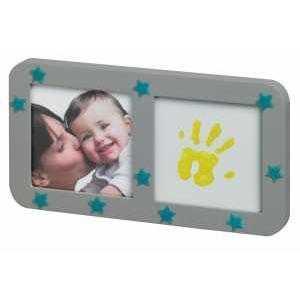 Baby Art – Рамка за отпечатък с фосфоресциращи звездички сива