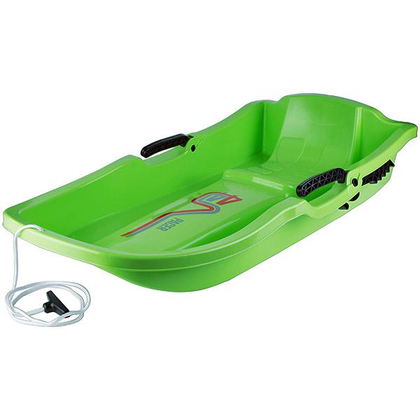 Лека детска шейна със седалка и спирачка PACER Зелена