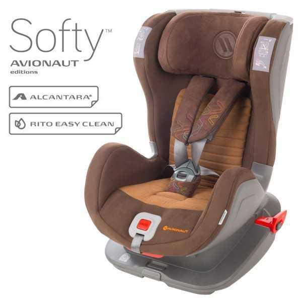 Avionaut Glider Softy столче за кола и IsoFix 9-25 кг F.05 кафяво