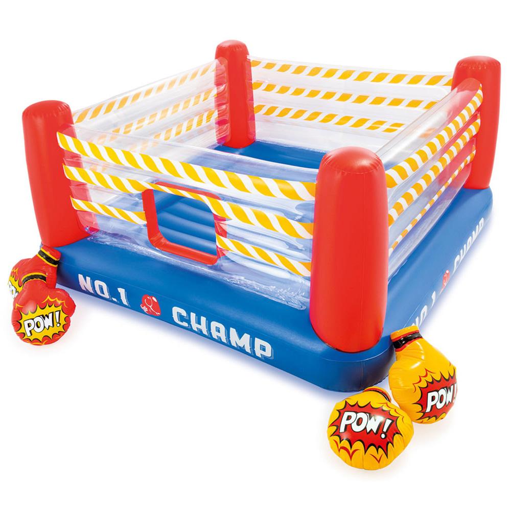 Детски надуваем батут Боксов ринг INTEX Jump-O-Lene, с 2 чифта надуваеми ръкавици