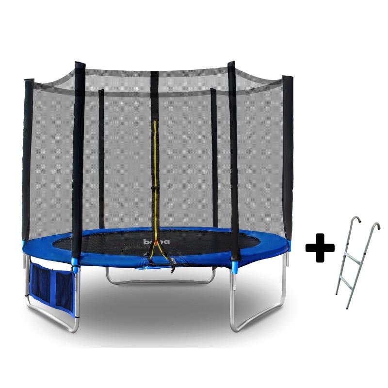 Детски батут Buba 6FT (183 см) с мрежа и стълба