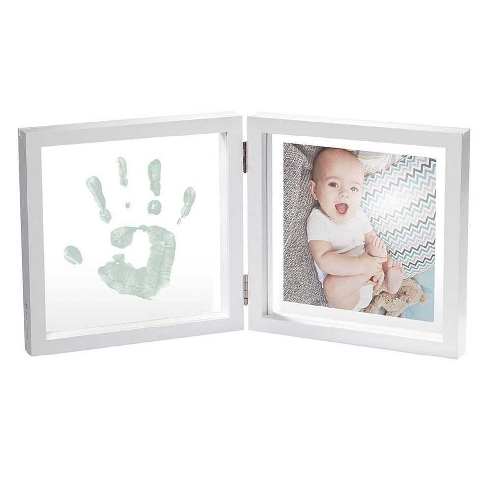 BABY ART Бяла рамка за отпечатък и снимка My Baby Style, квадратен (4 цвята паспарту)