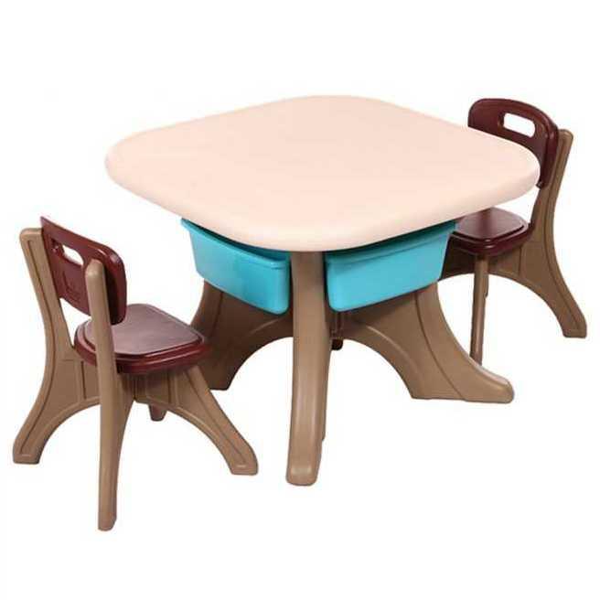 Moni garden – Маса с два стола Comfort кафяв – 18109