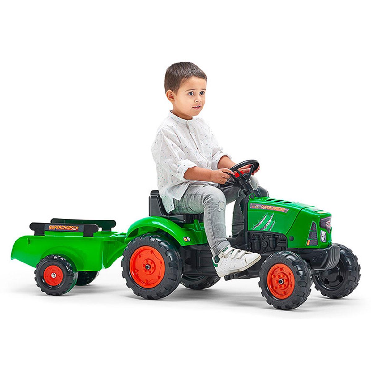 Трактор Falk Supercharger, зелен