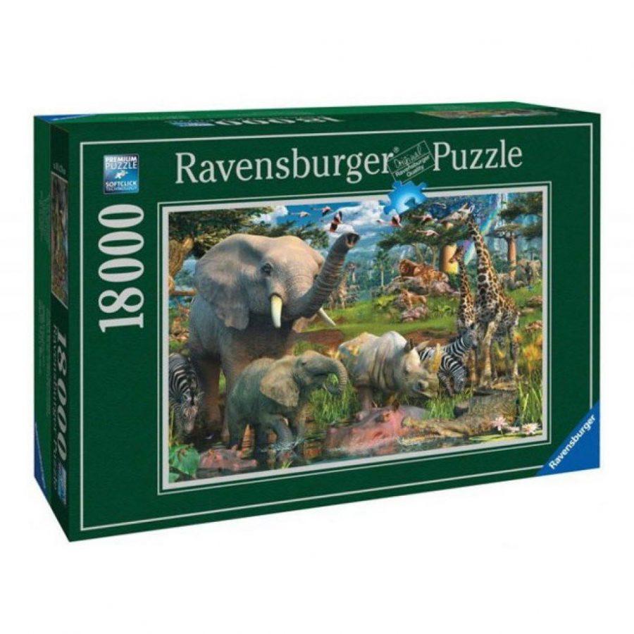 Пъзел Ravensburger 18000 ел. – Африкански животни