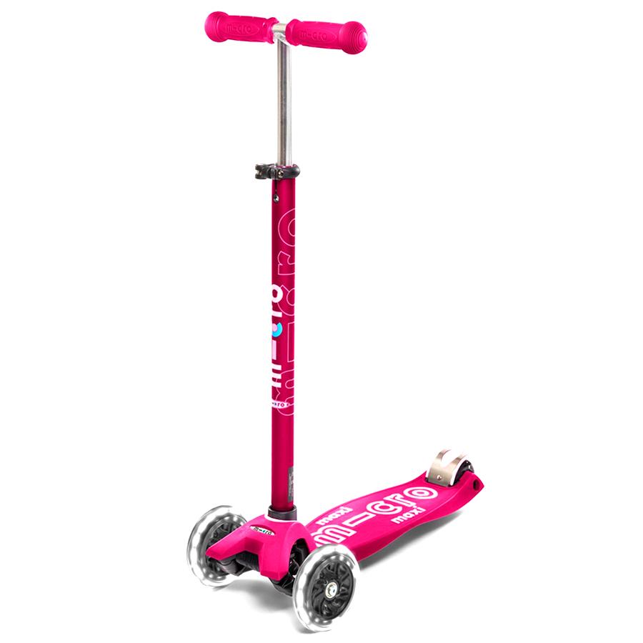 Тротинетка Micro – Maxi Deluxe LED Pink