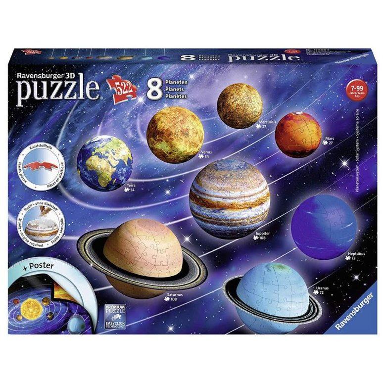 3D Пъзел Ravensburger 522 ел. – Слънчевата система
