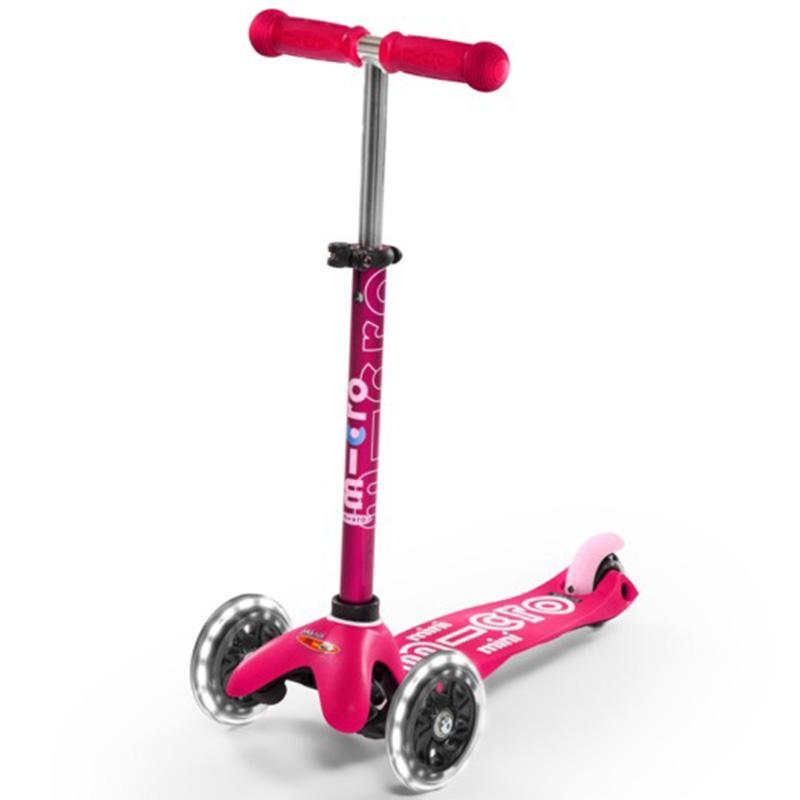 Тротинетка Micro – Mini Deluxe LED Pink