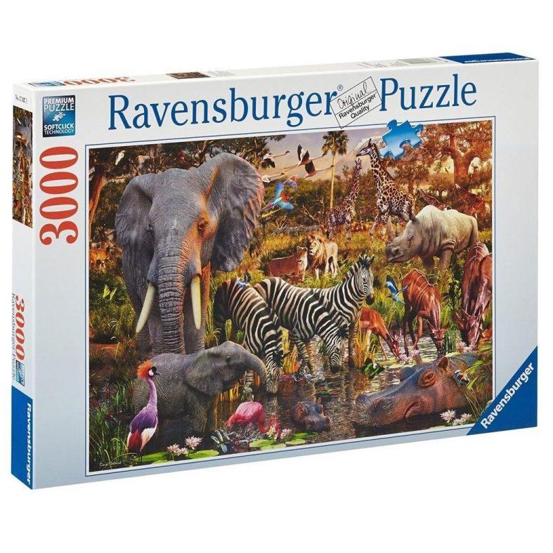 Пъзел Ravensburger 3000 ел. – Животни в Африка