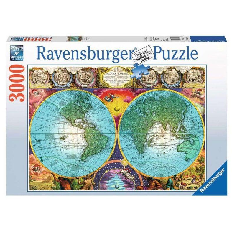 Пъзел Ravensburger 3000 ел. – Антична карта