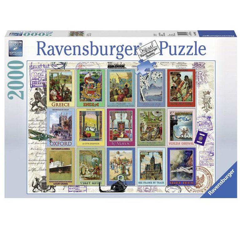 Пъзел Ravensburger 2000 ел. – Марки: ваканция