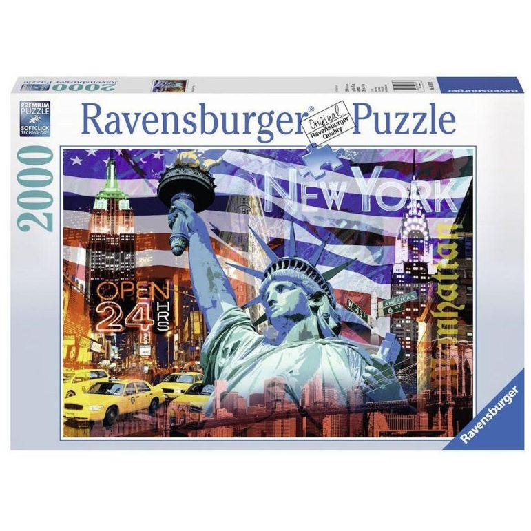 Пъзел Ravensburger 2000 ел. – Ню Йорк Колаж