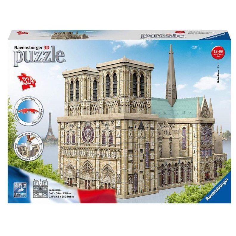 3D Пъзел Ravensburger 324 ел. – Катедралата Нотр Дам