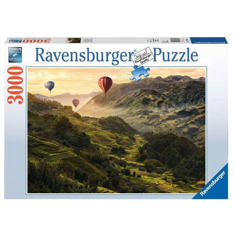 Пъзел Ravensburger 3000 ел. – Оризови полета в Азия