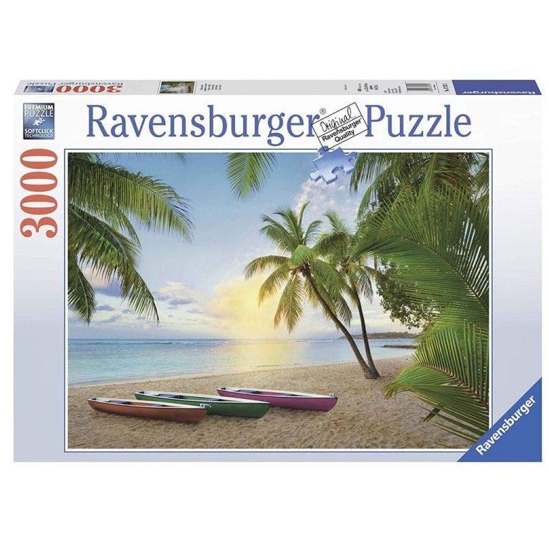 Пъзел Ravensburger 3000 ел. – Плаж с палми