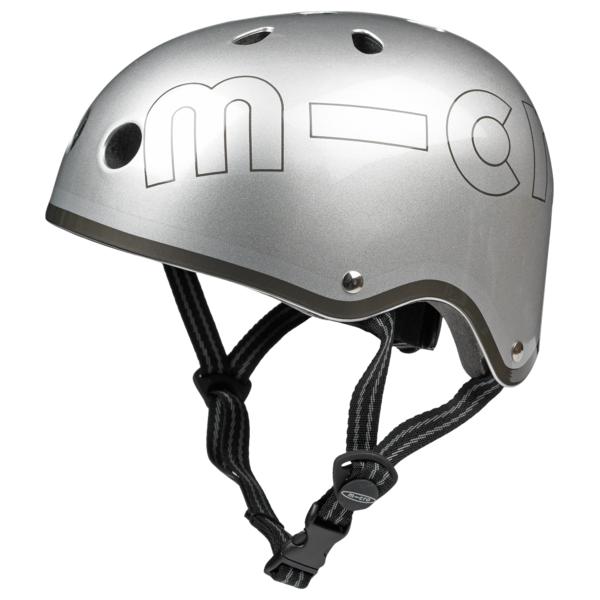 Каска за тротинетка metallic silver M