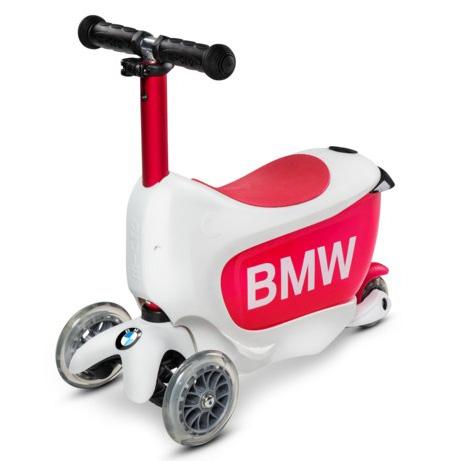 Тротинетка Micro – Mini 2 Go BMW White/Raspberry Red Deluxe