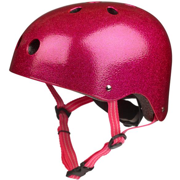 Каска за тротинетка pink glitter S