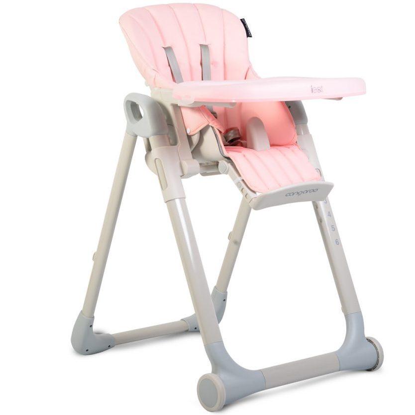 Детски стол за хранене I Eat розов