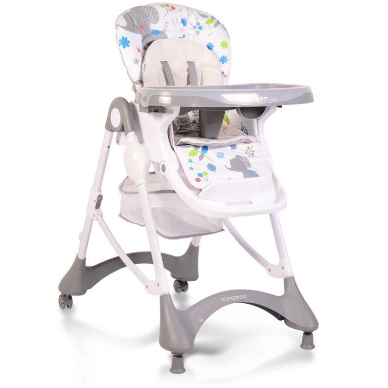 Детски стол за хранене Mint сив