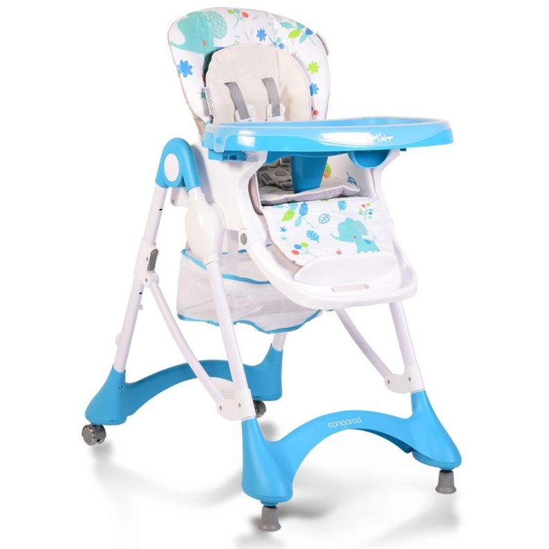 Детски стол за хранене Mint син