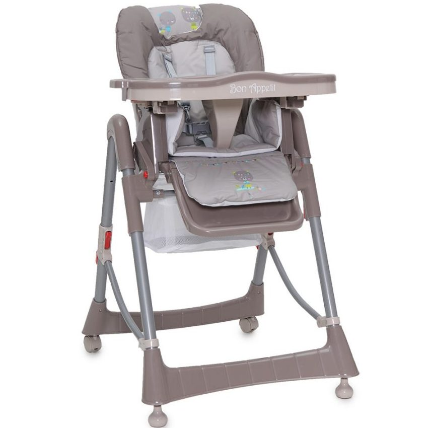 Детски стол за хранене Bon Appetit бежов