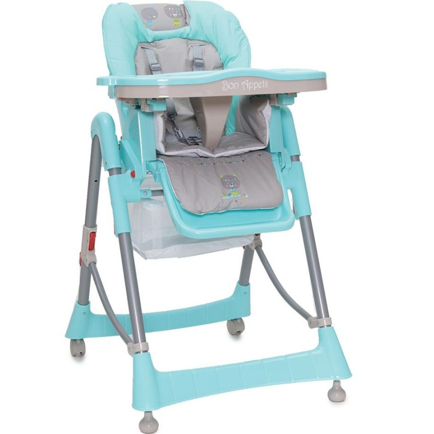 Детски стол за хранене Bon Appetit тюркоаз