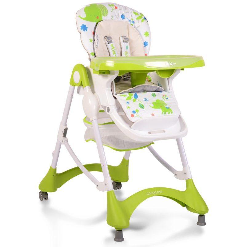 Детски стол за хранене Mint зелен