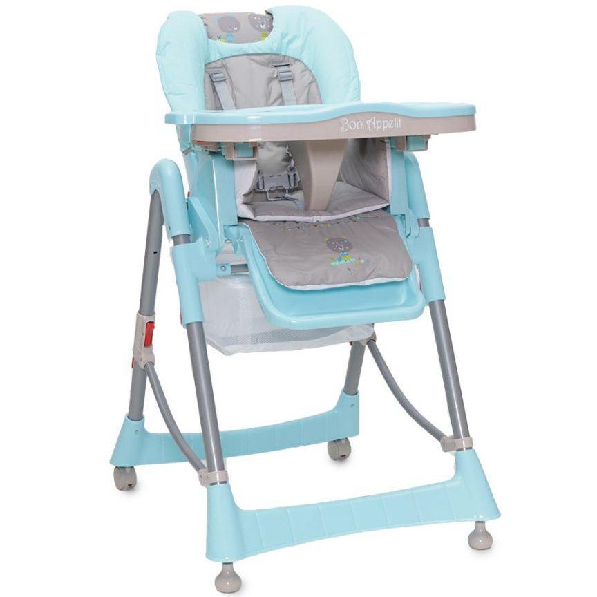 Детски стол за хранене Bon Appetit син