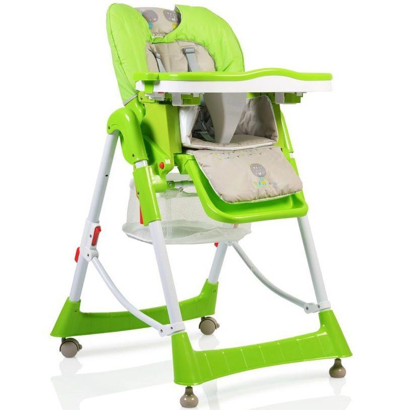 Детски стол за хранене Bon Appetit зелен