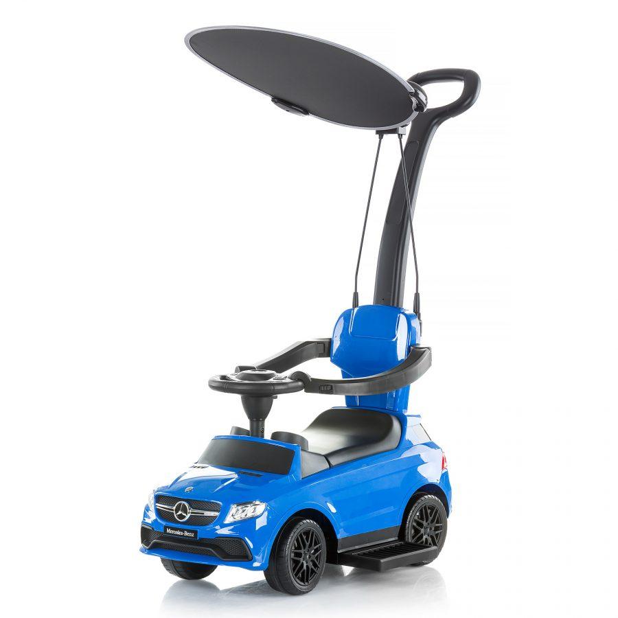 Кола с дръжка и сенник Mercedes AMG GLE63, Синя