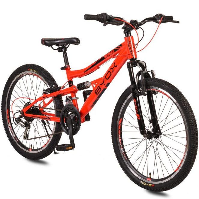 Велосипед със скорости 24 VERSUS червен