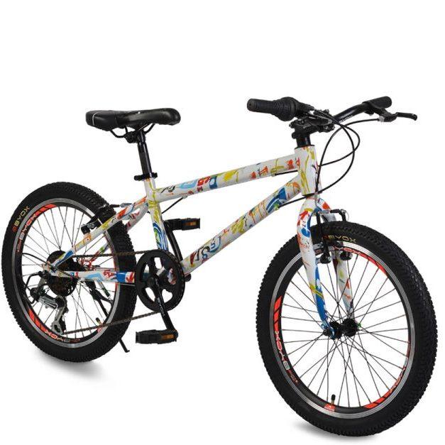 Велосипед със скорости 20″ GRAFFITI бял