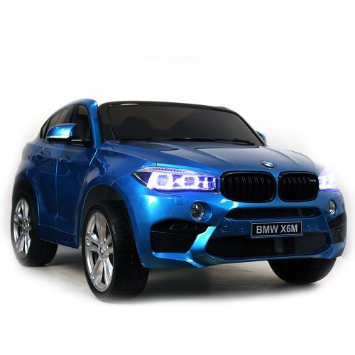 Акумулаторен джип BMW X6M металик – JJ2168 син