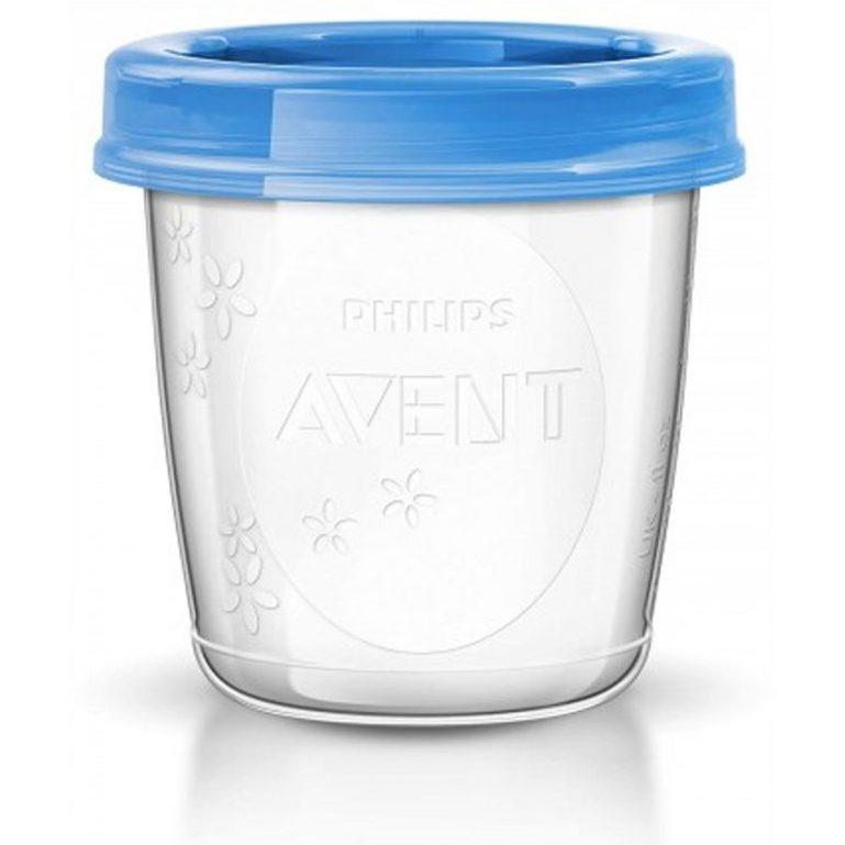 Промо Philips AVENT Механична помпа за изцеждане на кърма Comfort с контейнери VIA