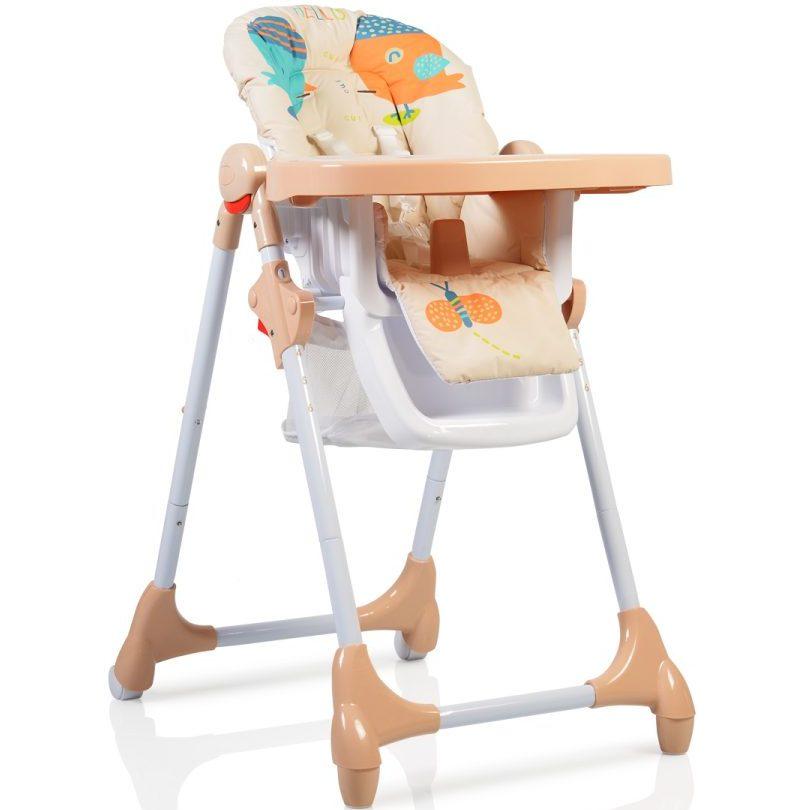 Детски стол за хранене Kimchi бежов