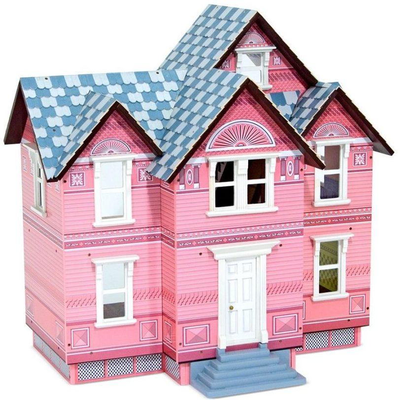 Дървена викторианска къща за кукли Melissa and Doug 3 етажа 12580