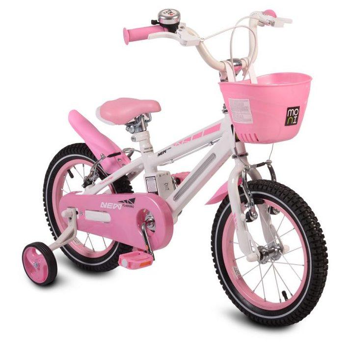 Детски велосипед 14″ със светеща рамка – 1490 розов