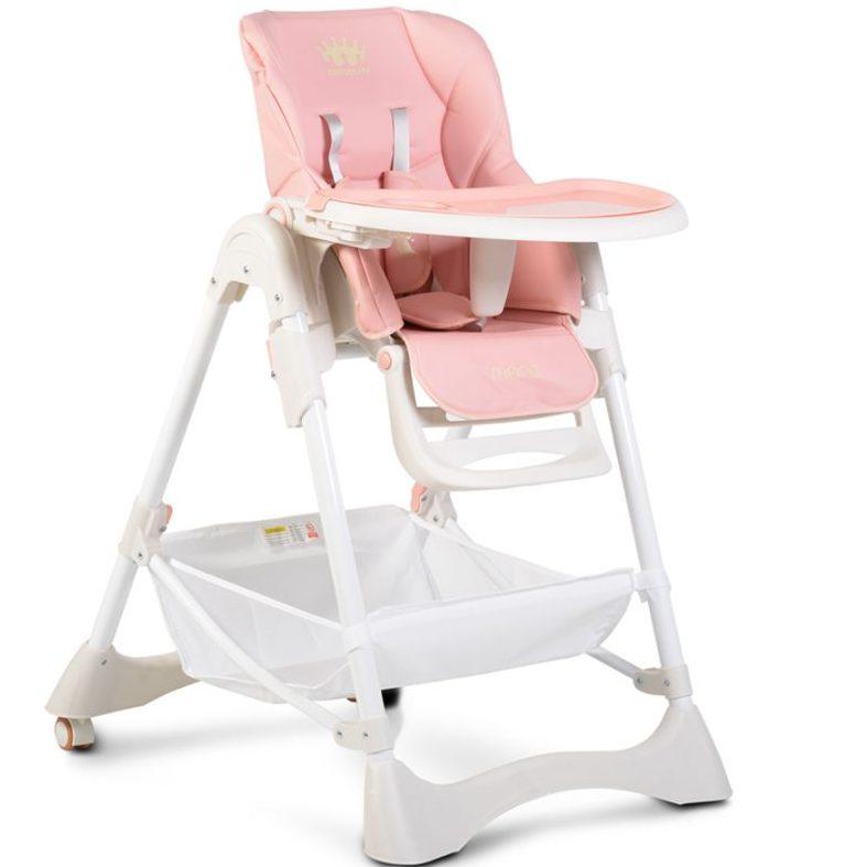 Детски стол за хранене Chocolate розов