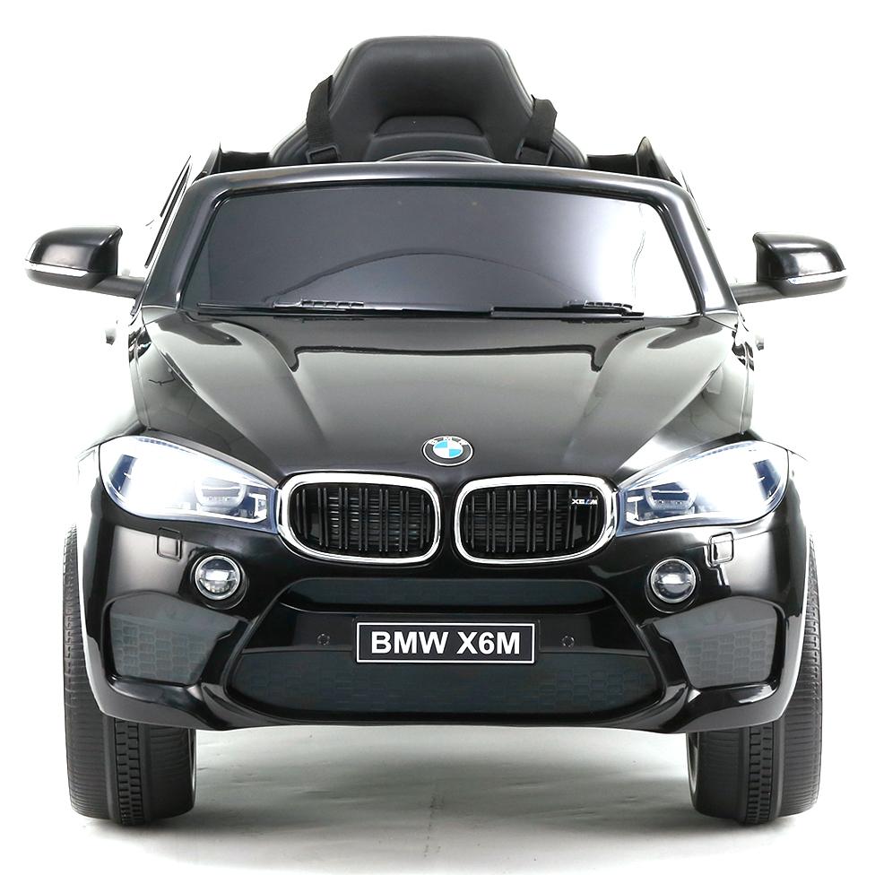 Акумулаторен джип BMW X6M кожена седалка – JJ2199 черен
