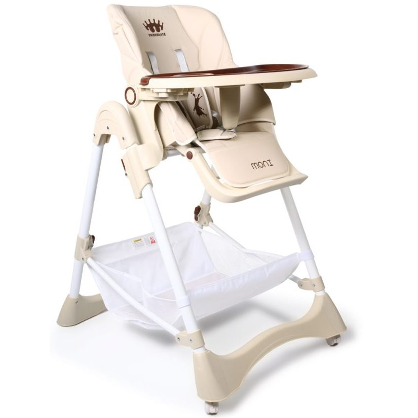 Детски стол за хранене Chocolate бежов