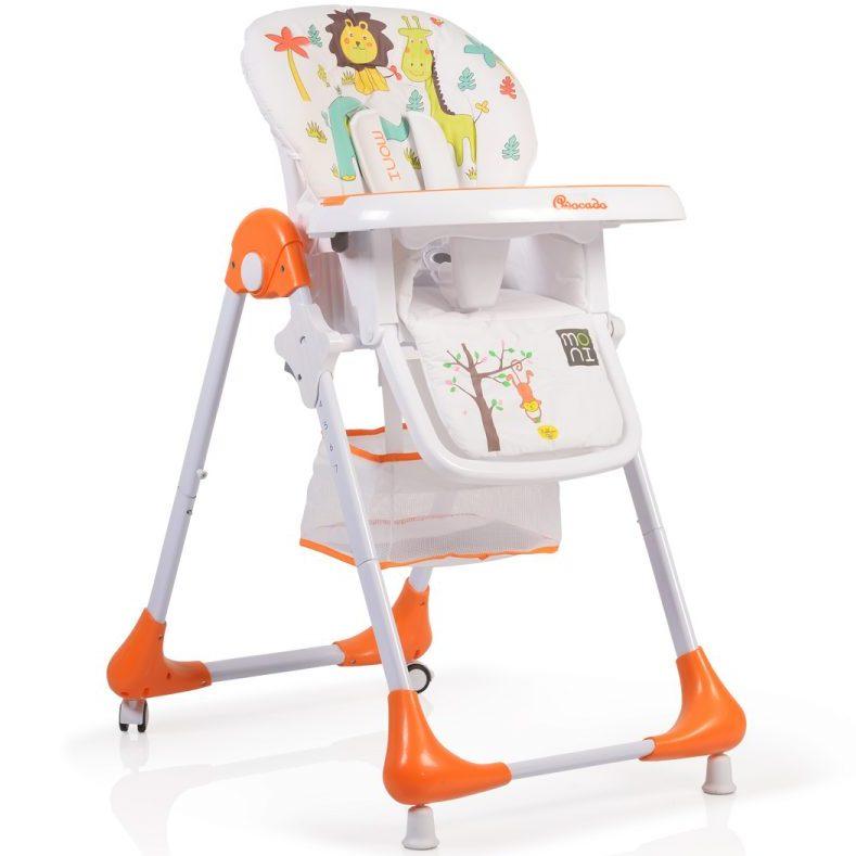 Детски стол за хранене Avocado оранжев