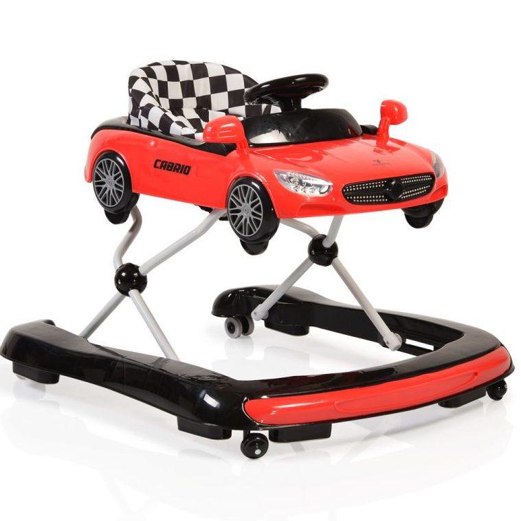 Детска проходилка Cabrio 2 в 1 червена