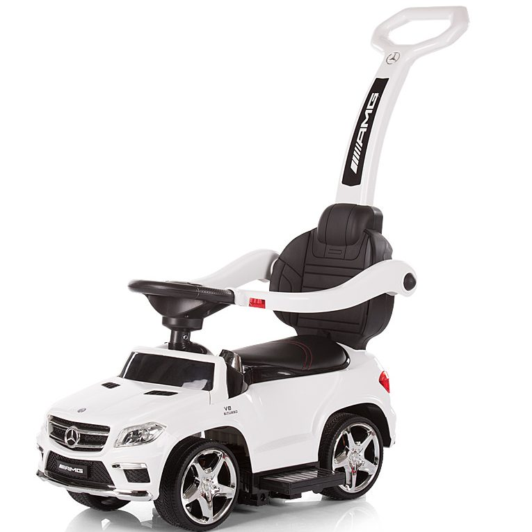 Chipolino Кола с дръжка и сенник Mercedes GL63 AMG, Бяла