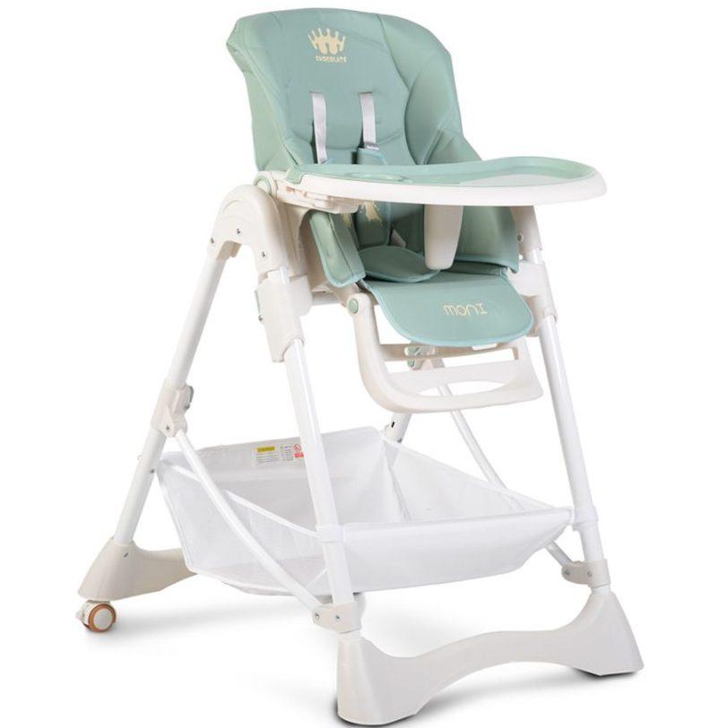Детски стол за хранене Chocolate син
