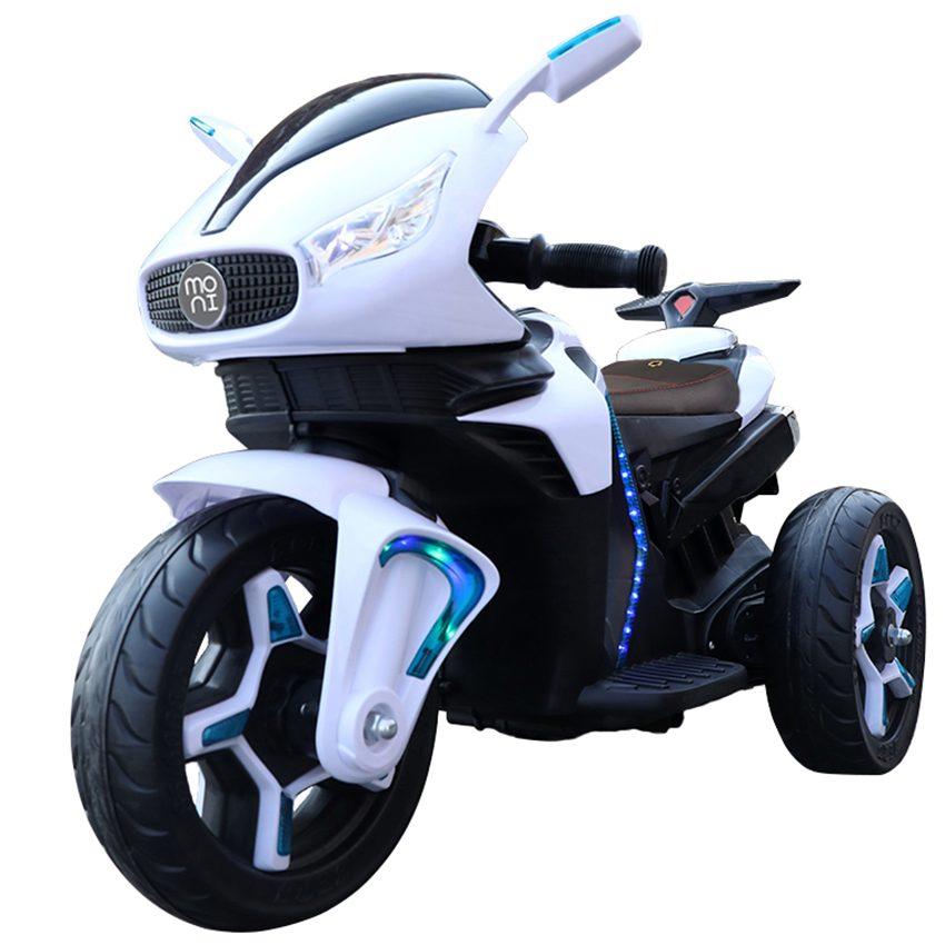 Акумулаторeн мотор Shadow с кожена седалка – 6688 бял