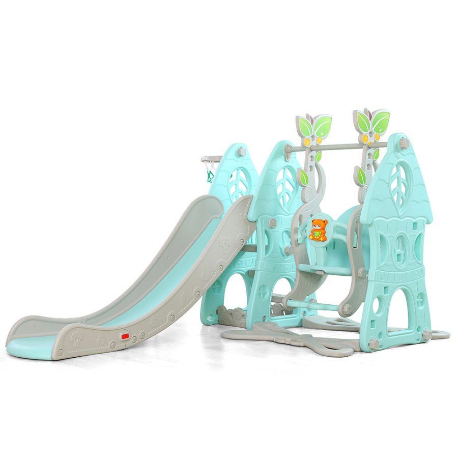 Пързалка с люлка Wonder синя – 18009